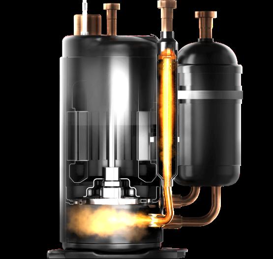 Двухроторный компрессор On / off кондиционера MDV серии Aurora, фото